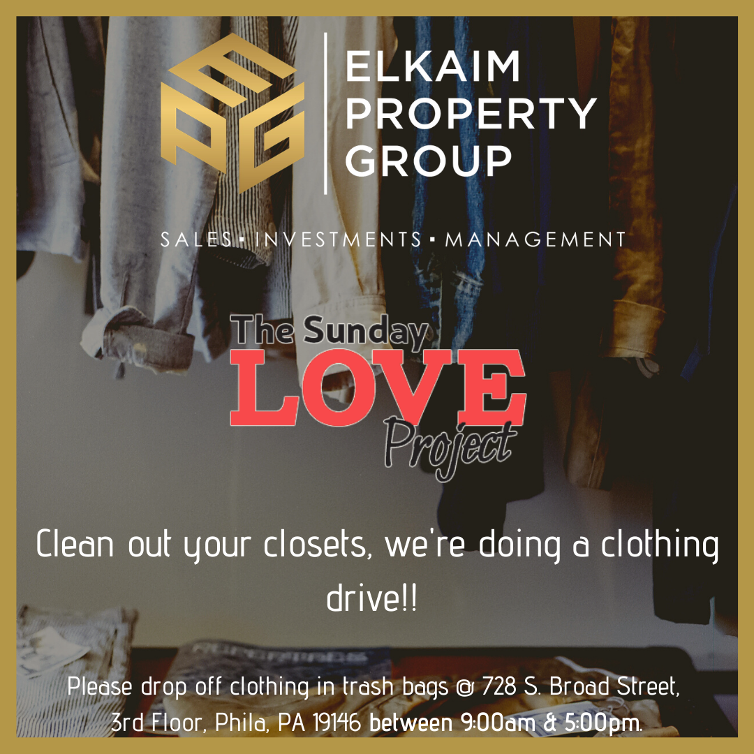 Sunday Love Project clothing drive